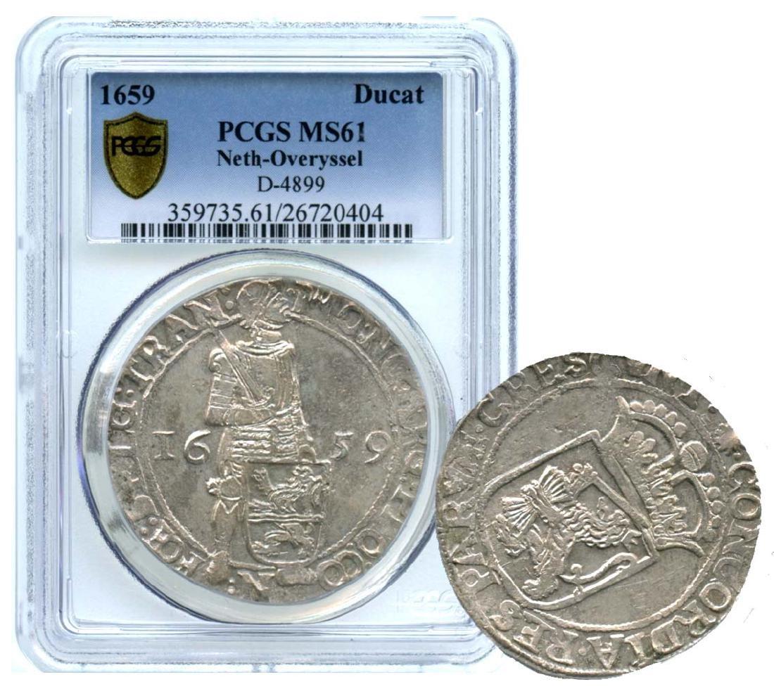 NETHERLANDS Silver: Ducat 1659