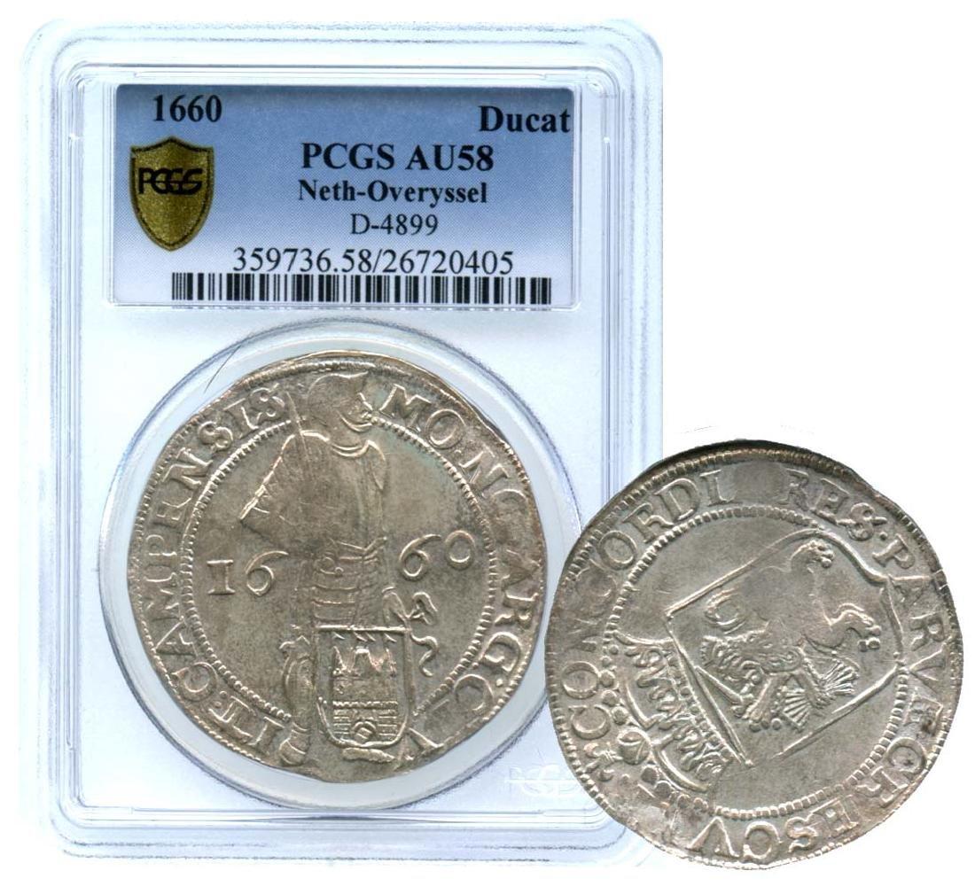 NETHERLANDS Silver: Ducat 1660