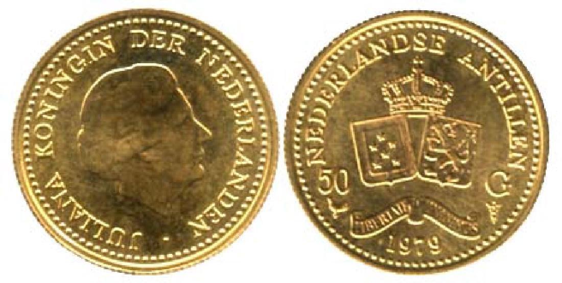 NETHERLAND ANTILLES Gold: 50G 1979