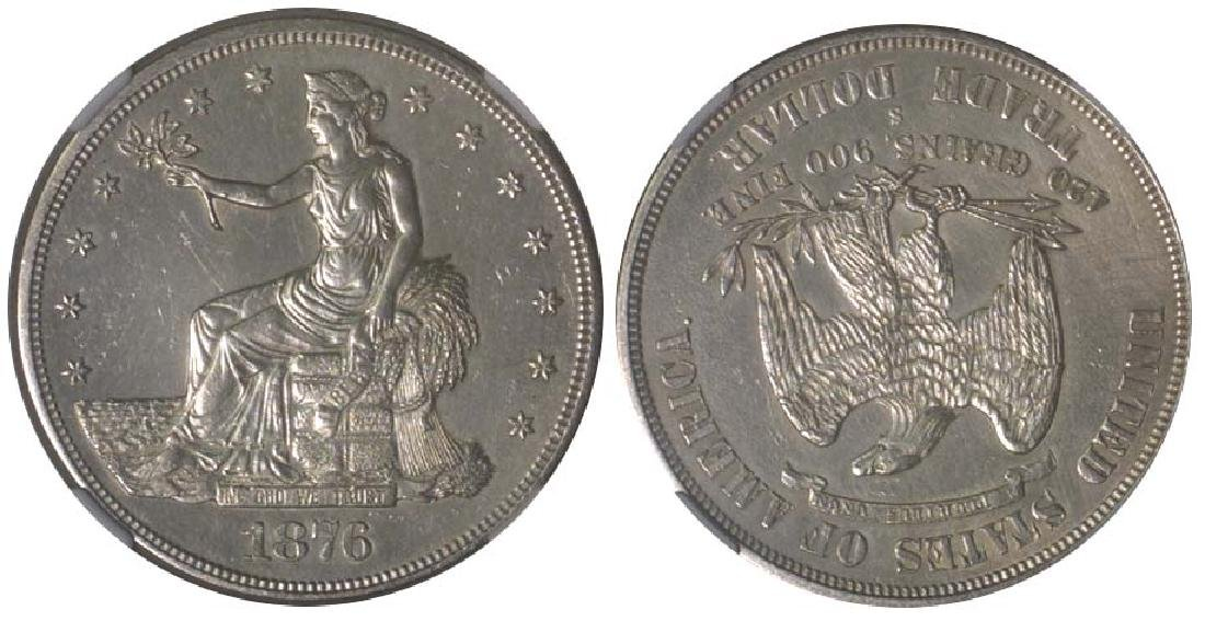 UNITED STATES OF AMERICA Silver: Trade Dollar 1876