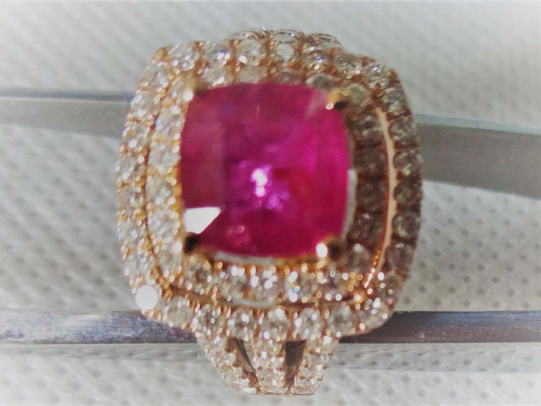 Diamond Ruby Ring on18k gold
