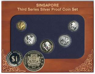 SINGAPORE Third Series Silver Proof Coin Set