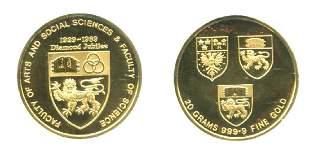 SINGAPORE Gold Proof Medallion 20gm NUS