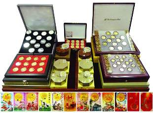 SINGAPORE First Series Gold Lunar Coins