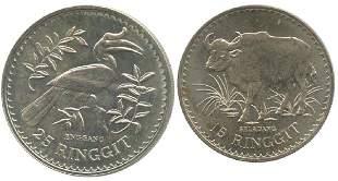 MALAYSIA Silver WWF pair