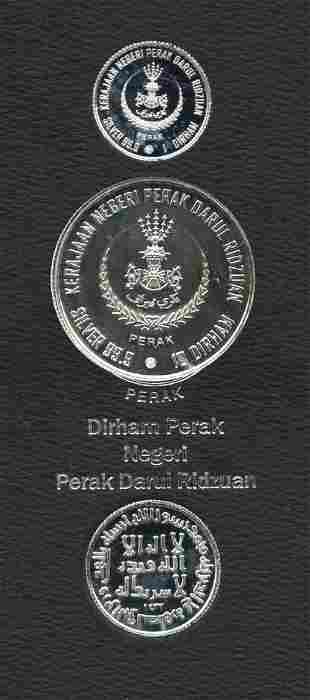 MALAYSIA Perak Set of Silver coins