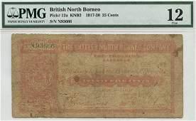 BRITISH NORTH BORNEO 25-Cents N93666