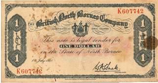 BRITISH NORTH BORNEO $1 K607742