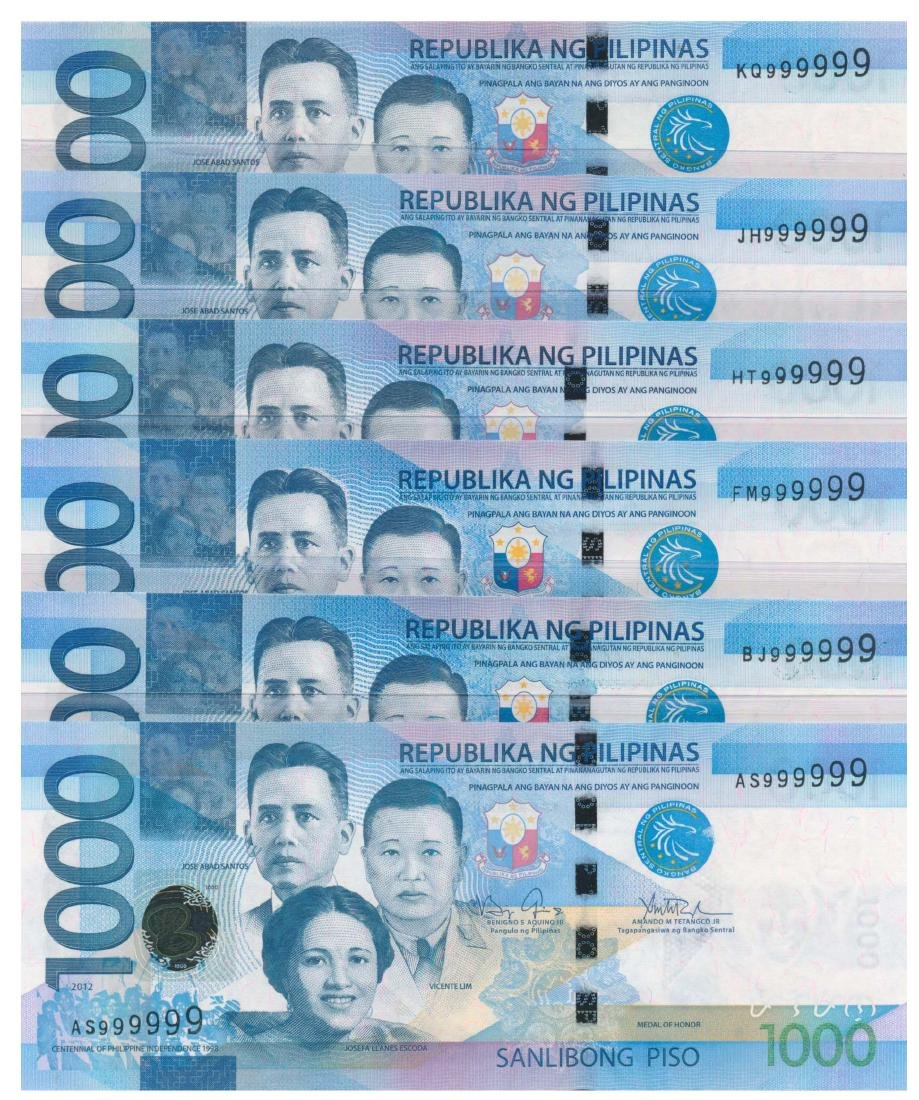 PHILIPPINES 1000-Piso 2012-17 Solid