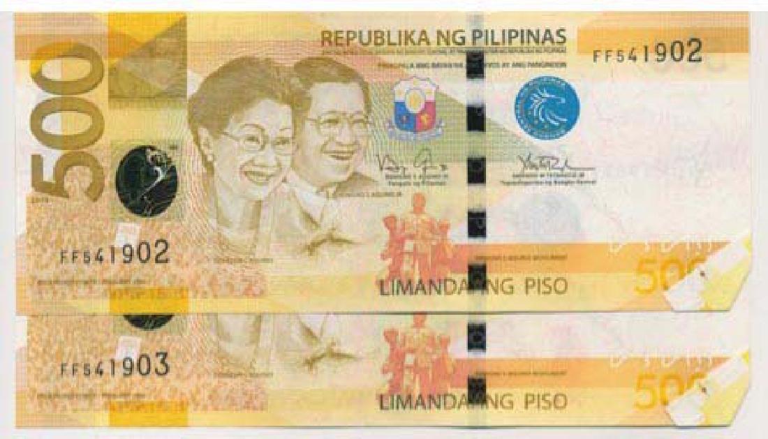 PHILIPPINES 500-Piso 2014 Error