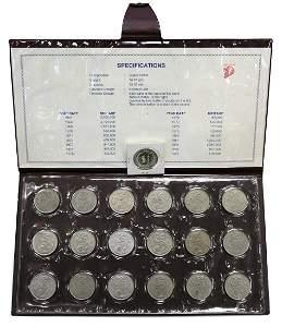 SINGAPORE Merlion Dollar 1967-1984 (19pcs)