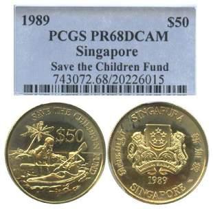 SINGAPORE Gold 50 1989