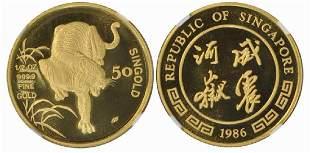 SINGAPORE Gold 12 oz 1986