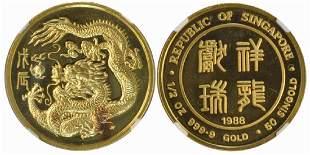 SINGAPORE Gold 12 oz 1988