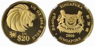 SINGAPORE Gold 12 oz 2000
