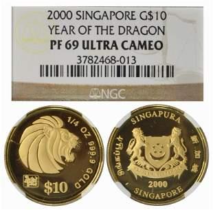 SINGAPORE Gold 14 oz 2000
