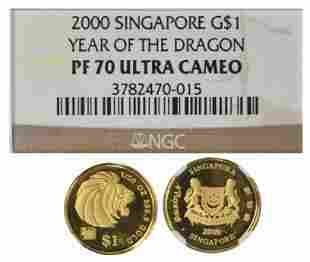 SINGAPORE Gold 120 oz 2000