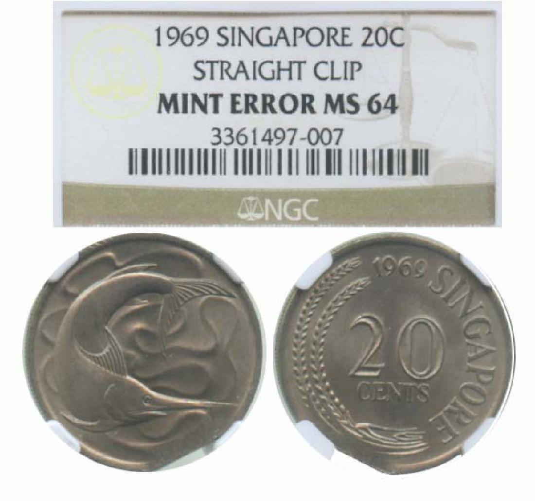 SINGAPORE Cu-Ni: 20-Cents 1969