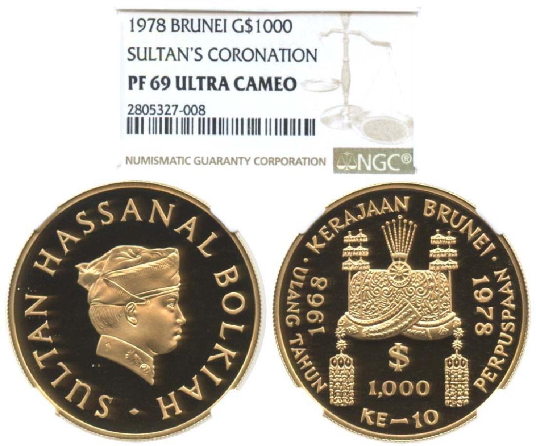 BRUNEI Gold 1978 $1000