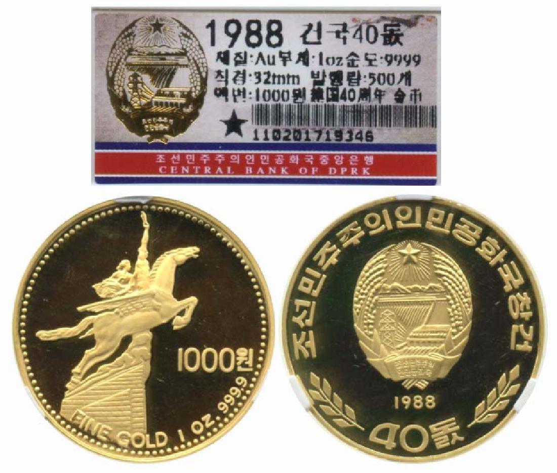KOREA Gold 1000-Won 1988