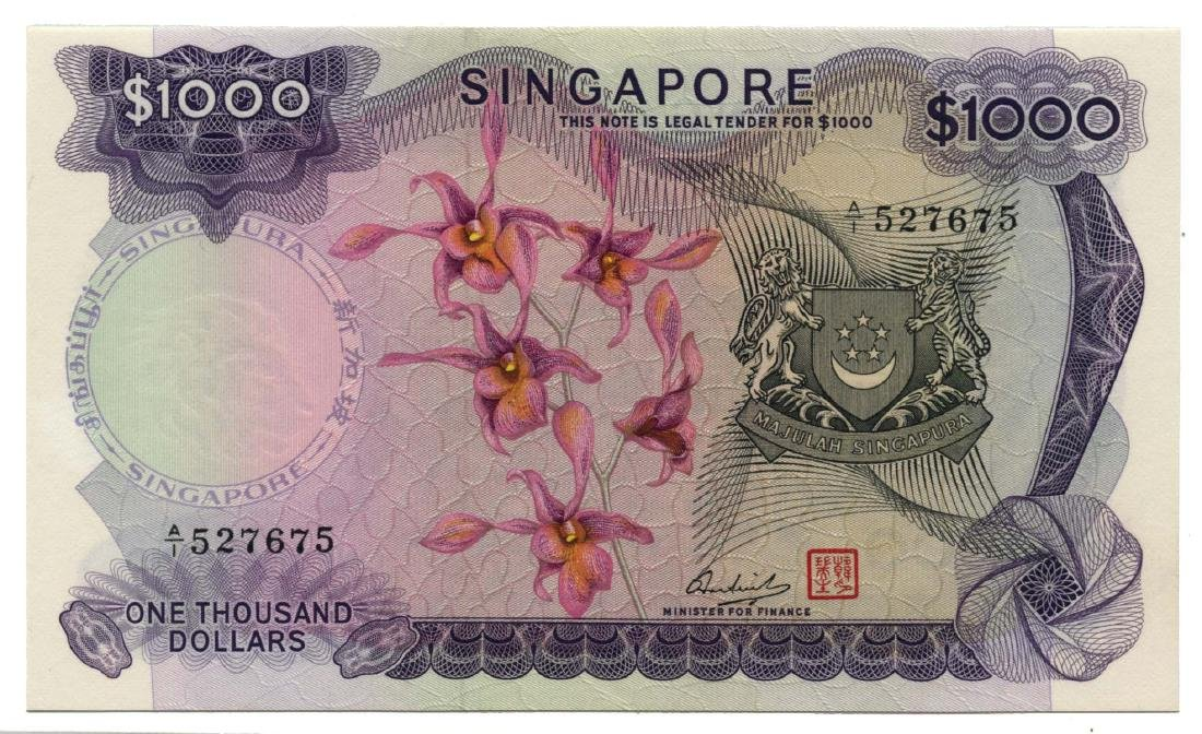SINGAPORE Orchid Series: $1000