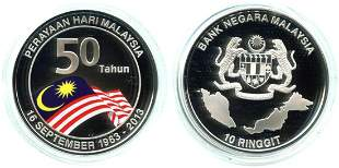 MALAYSIA Silver 3pcs