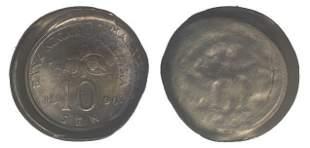 MALAYSIA Cu Ni 10 Cents 1990 ERROR