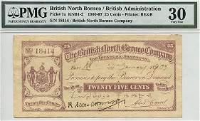 BRITISH NORTH BORNEO British Administration 25Cents