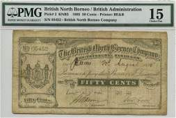 BRITISH NORTH BORNEO British Administration 50Cents