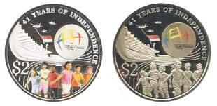 SINGAPORE Silver CuNi 2 commemorative 2 in 1 Coin
