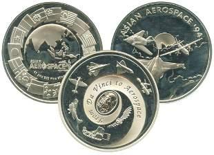 SINGAPORE Silver Sterling Medallion 41g