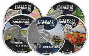 AUSTRALIA 2013 Australia 1Oz Complete set Silver Proof