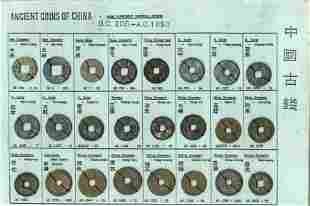 CHINA Nine different rulers BC 206AD 1850 1 cash x