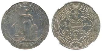 GREAT BRITAIN BTD Silver Dollar 1934B (T1) NGC MS 62,