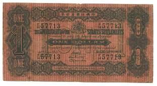 STRAITS SETTLEMENTS British Administration $1 1921 F/14