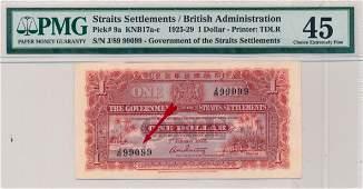 STRAITS SETTLEMENTS British Administration 1925 $1