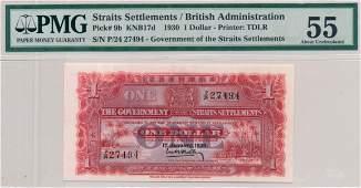 STRAITS SETTLEMENTS British Administration 1930 $1 P/24