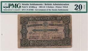 STRAITS SETTLEMENTS British Administration 1921 $5 C/8