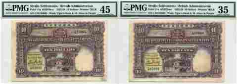 STRAITS SETTLEMENTS British Administration 1925 $10