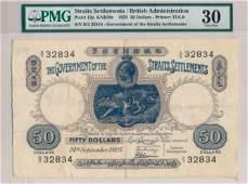 STRAITS SETTLEMENTS British Administration 1925 $50 B/5