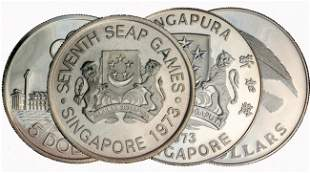 $5 Silver Proof Coin 7th SEAP Games 1973 & $10 Silve