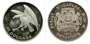 $10 Silver Proof Eagle 1972 with box (KM#9.1) Rare y
