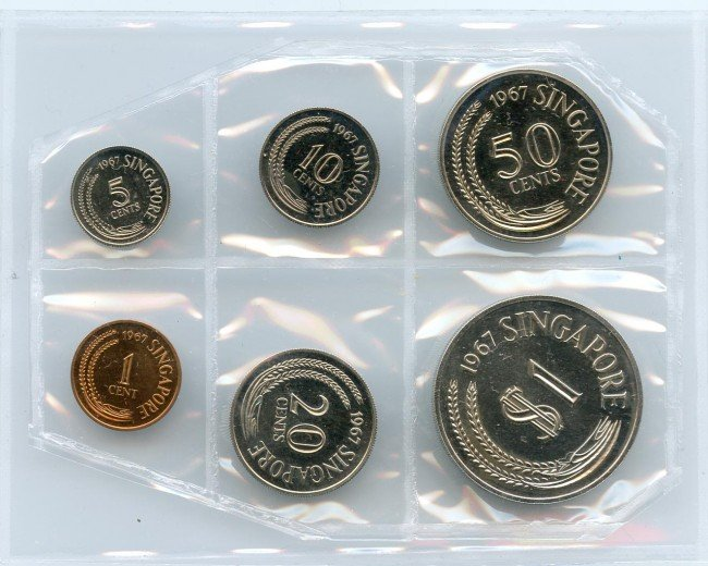 7: Proof Set: 1967 comprising 1-,5-,10-,20-,50-Cent & $