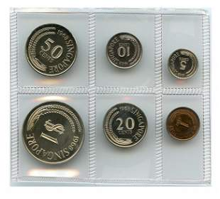Proof Set: 1968 comprising 1-,5-,10-,20-,50-Cent & $