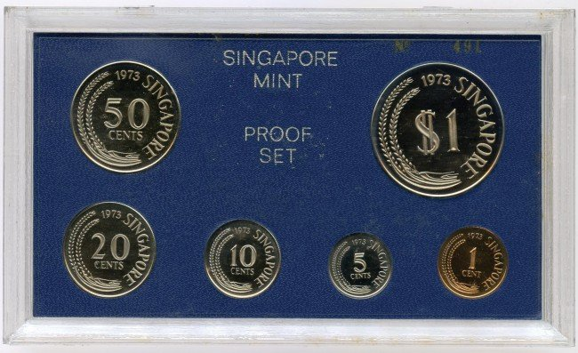 10: Proof Set: 1973 comprising 1-,5-,10-,20-,50-Cent &
