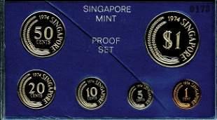 Proof Set: 1974 comprising 1-,5-,10-,20-,50-Cent &