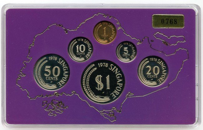 12: Proof Set: 1978 comprising 1-,5-,10-,20-,50-Cent &