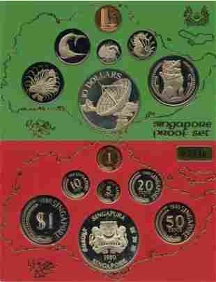 Proof Set: 1979 & 1980 comprising 1-,5-,10-,20-,50-