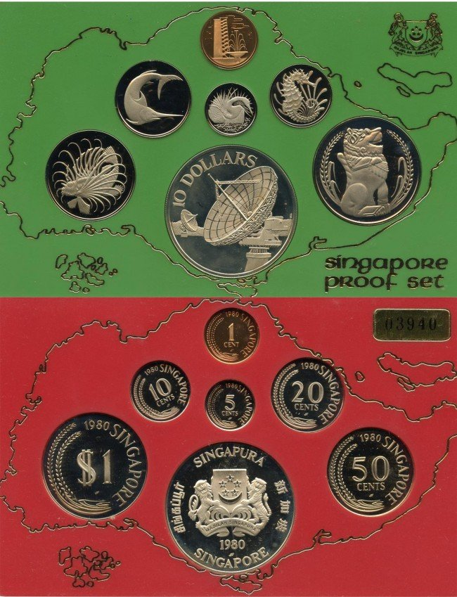 14: Proof Set: 1979 & 1980 comprising 1-,5-,10-,20-,50-
