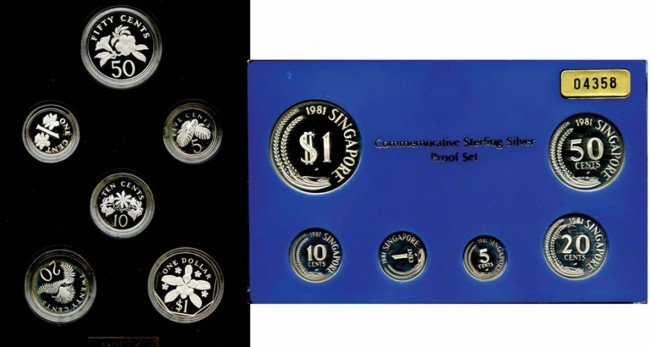 15: Proof Set: 1981 & 1989 sterling silver comprising 1